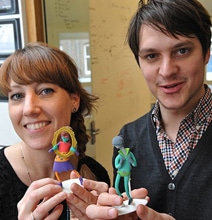 3D Printed Action Figures That Replace Business Cards