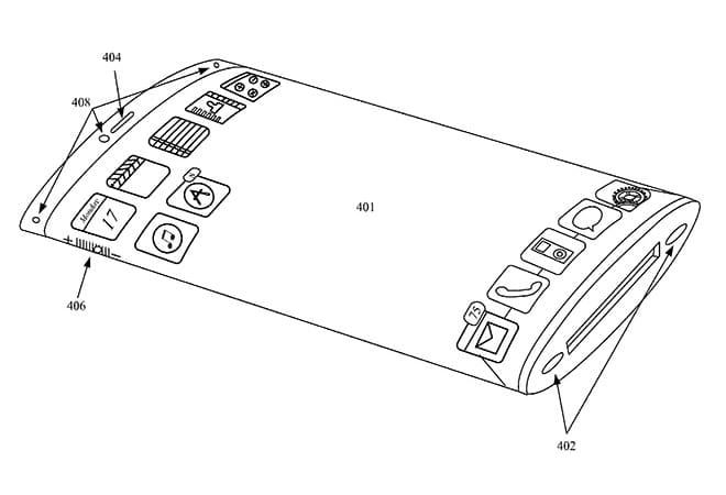 Apple Patents Flexible Wraparound Display Smartphone