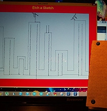 DIY Virtual High Tech Etch-A-Sketch (Complete With Shake-To-Erase)