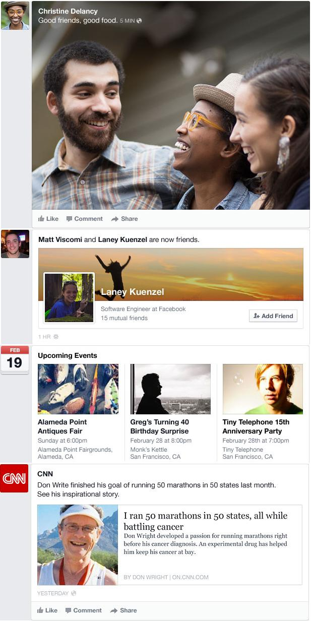facebook new timeline feature