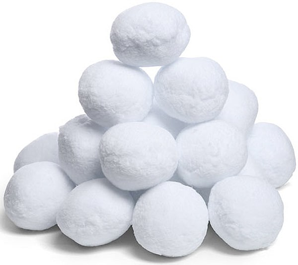 The big bag of snowballs perfect for an indoor snowball