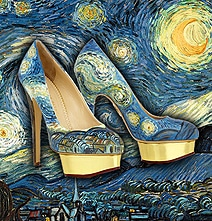 High Heel Shoes Painted To Look Just Like Famous Artworks