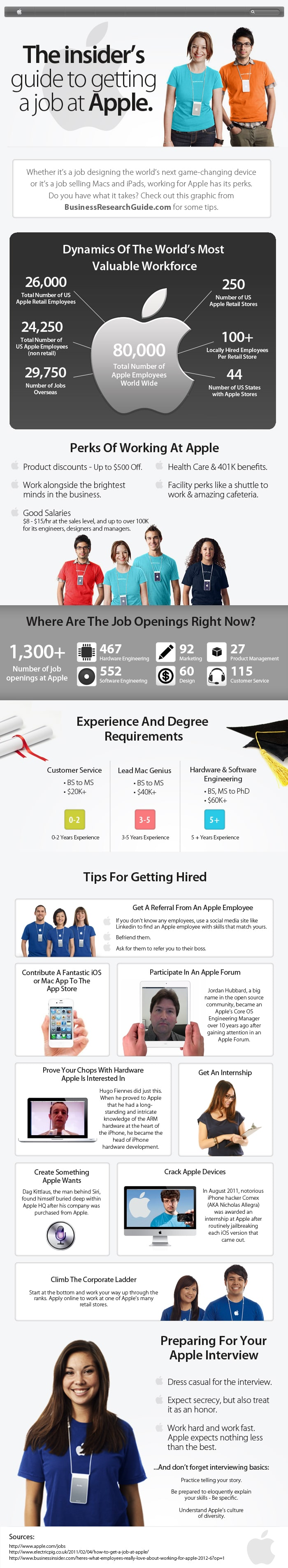 how to get a job at apple an insider s guide infographic get a job at apple