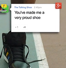Snarky Google Shoes Talk To You When You Wear Them [Video]