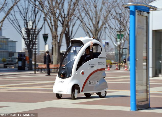 Self-Driving Robot Cars Now Roll On Sidewalks In Japan