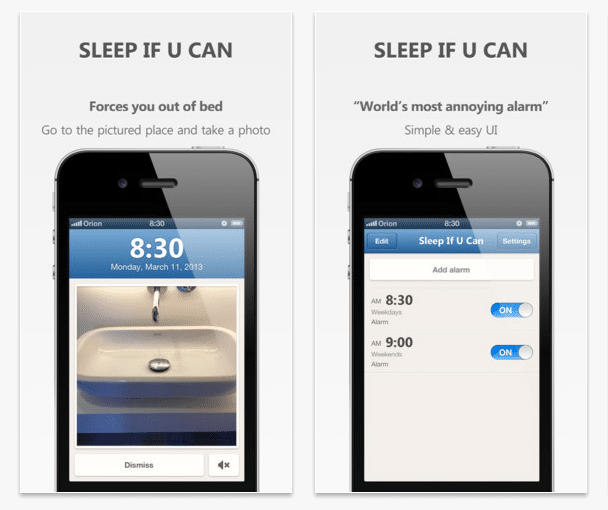 "There Is No Being Late With The ""Sleep If U Can"" Wake-Up App"