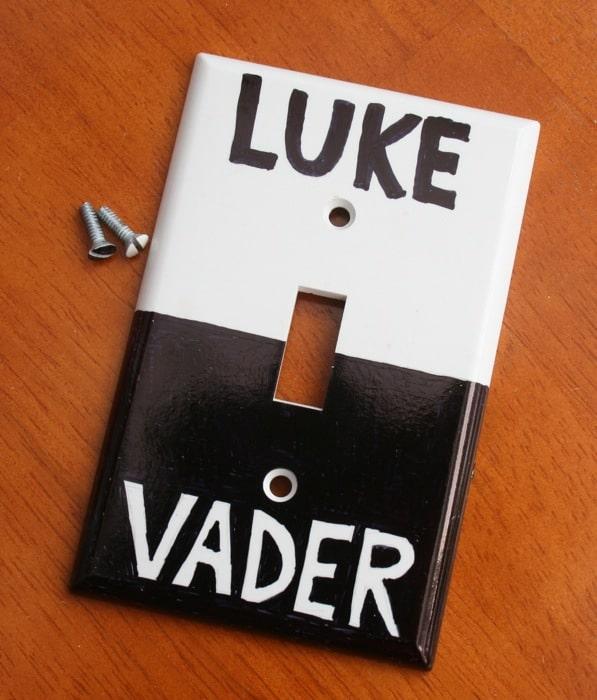Luke & Vader Light Switch Hack For The Extreme Star Wars Fan