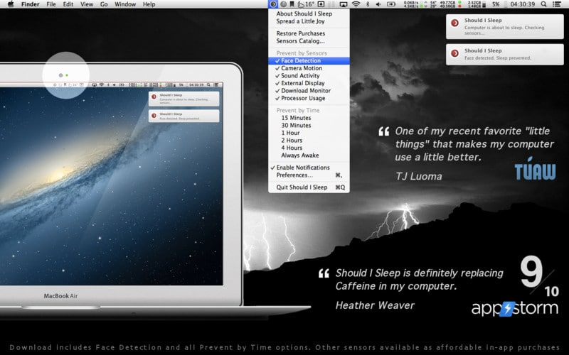 Should I Sleep App Uses Face Detection To Keep Your Mac Awake