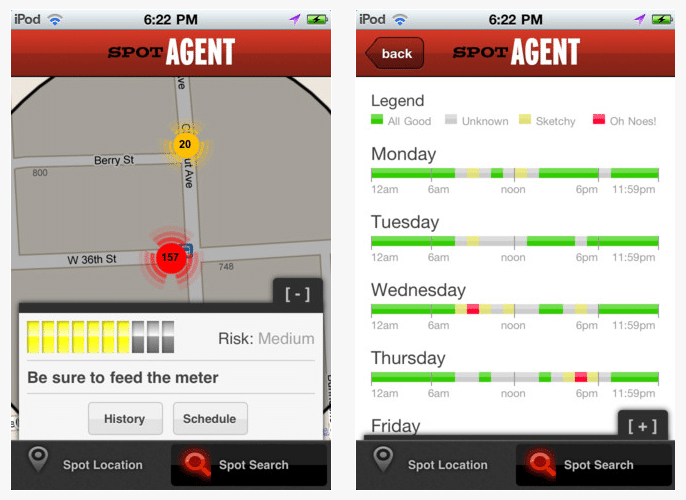 SpotAgent: Alerts Drivers Of Probability Of Getting A Parking Ticket