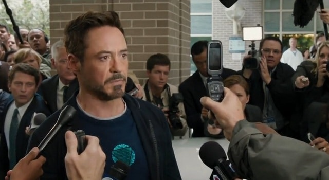 Reporter Gets Cell Phone Upgrade During Tony Stark Interview