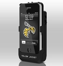 Yellow Jacket Cell Phone Case Packs A Stun Gun
