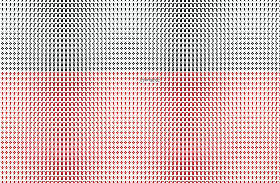 7 Billion: Every Single Person In The World Represented On One Chart