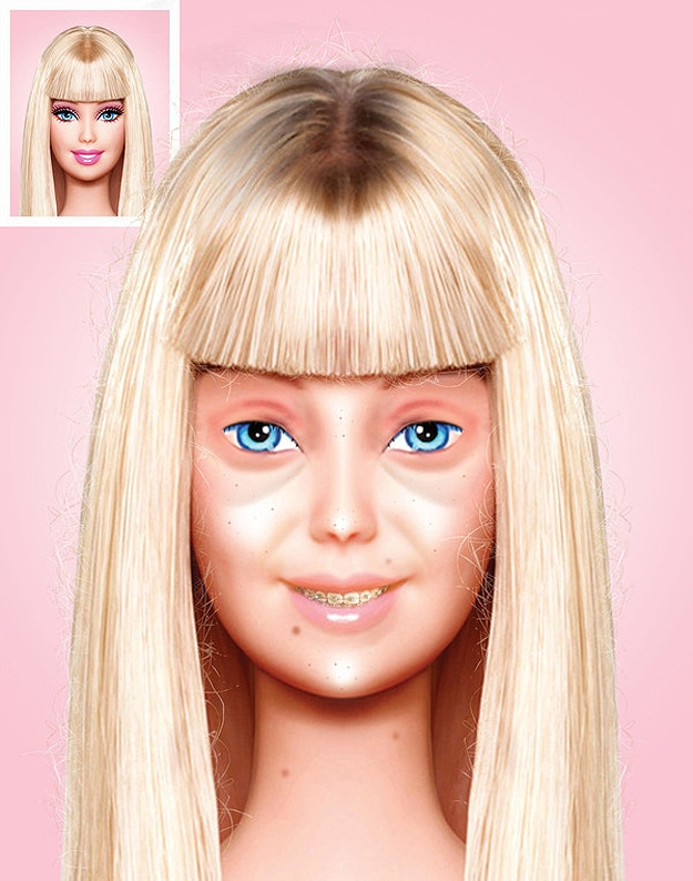 Barbie Goes Natural: This Is Barbie's Face With No Makeup
