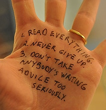 12 Bloggers & Authors Doodle Writing Advice On Their Hands [12 Pics]