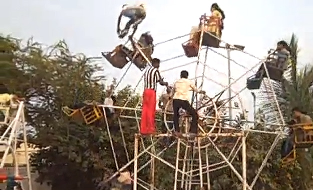 Human Powered Ferris Wheel For Thrill Seekers [Video]