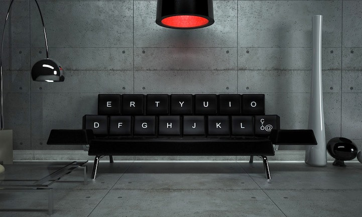 QWERTY Keyboard Sofa Bed: Perfect For Falling Asleep On Your Keyboard