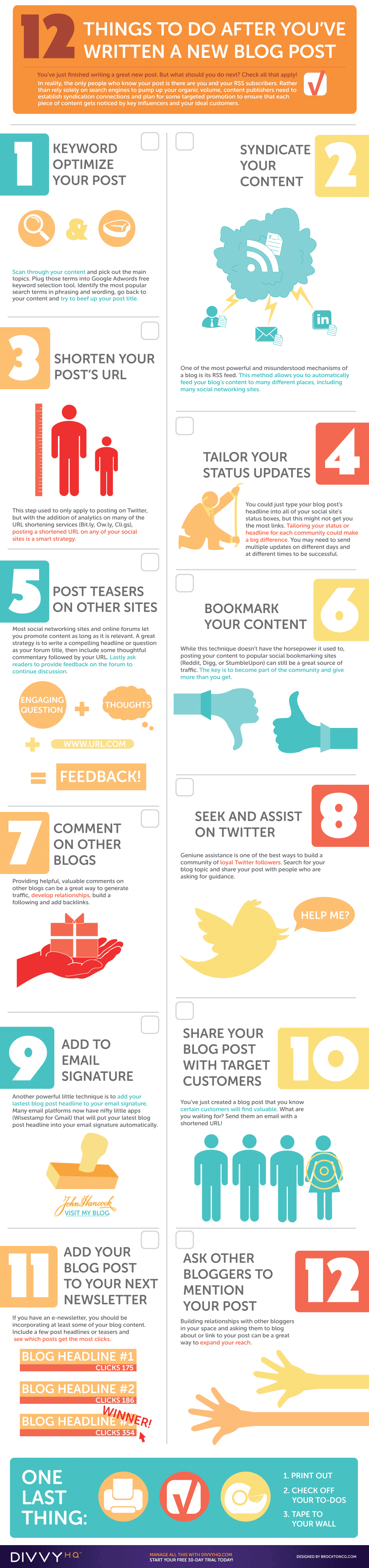 12 Must Do Things After You Have Written A New Blog Post [Infographic]