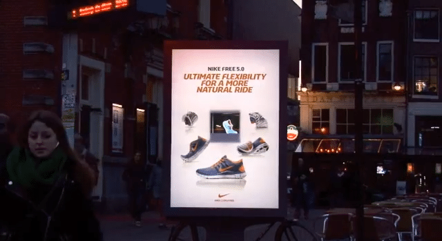Nike Uses Public Holographic Displays To Market New Running Shoes