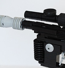 The Legendary Han Solo DL-44 Heavy Blaster Recreated In LEGO