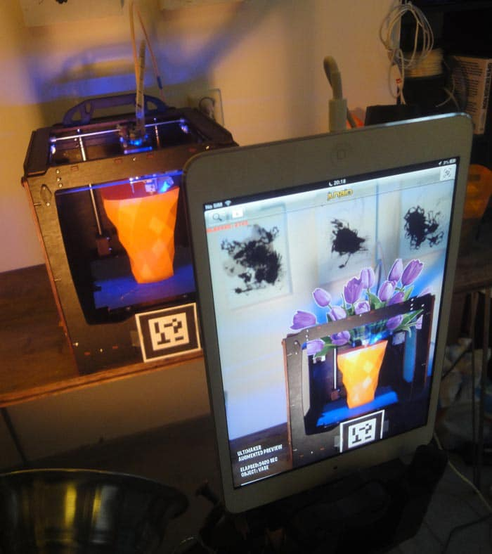 View 3D Designs As They Print In Real Time With Augmented Reality
