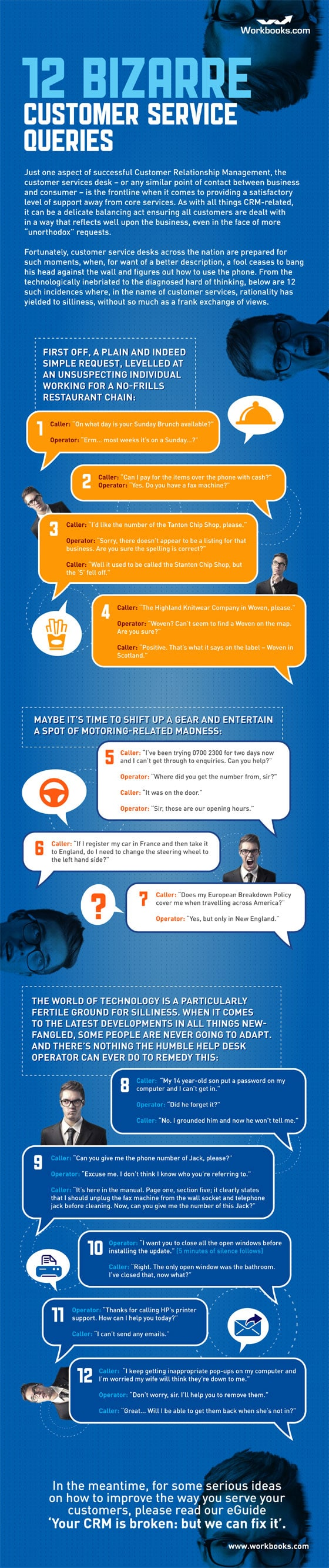 12 Hilariously Bizarre Yet Real Customer Service Queries [Infographic]