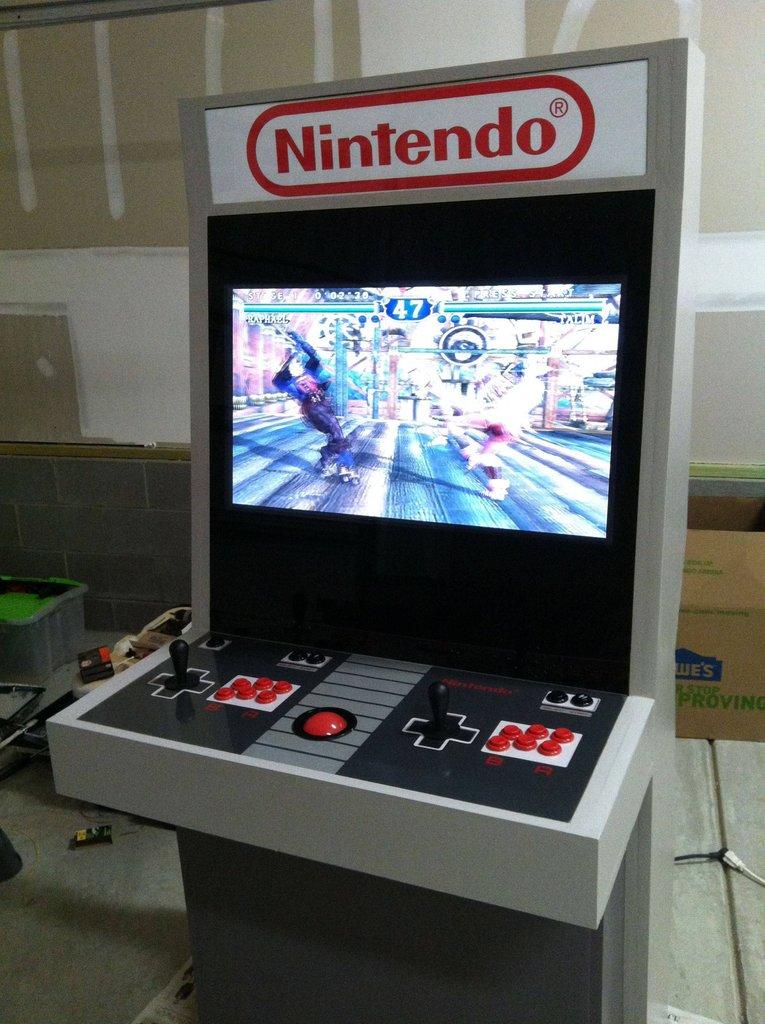 nintendo themed arcade cabinet epically retrofies your life bit rebels. Black Bedroom Furniture Sets. Home Design Ideas