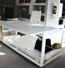 Desk With A Hidden Bed Built Into It So You Can Secretly Nap At Work