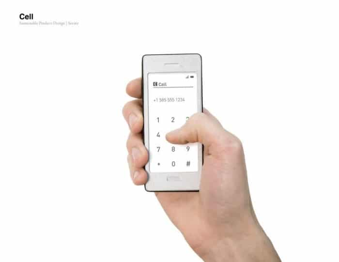 Environmentally Friendly Basic Phone Introduces Smart E-Ink Features