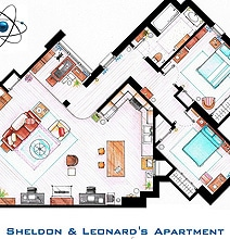 Artsy Architectural Apartment Floor Plans From TV Shows [9 Pics]