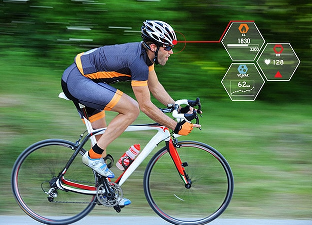 Smart Cycling Helmet With Wireless Capability Monitors Heart Rate