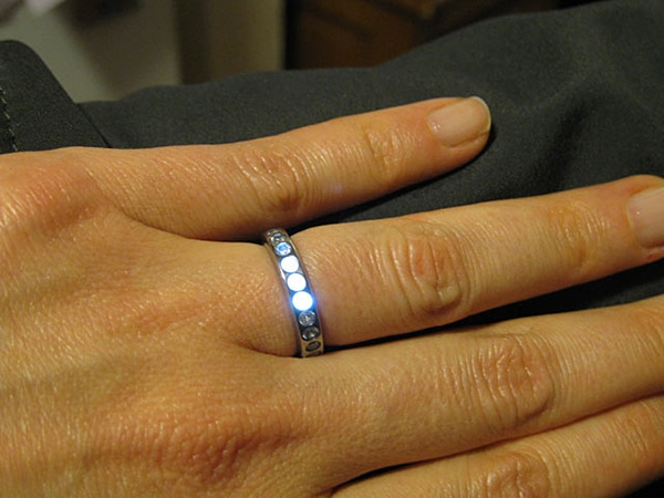 LED Ring Turns Your Marriage Proposal Into A Tech Fest