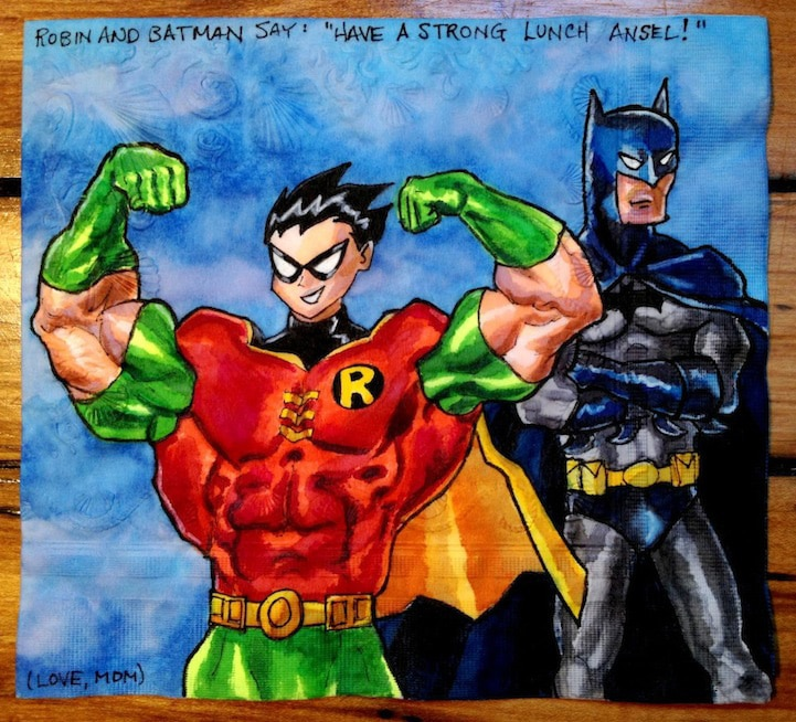 Superhero Lunchbox Paper Napkins Designed By A Mom For Her Children