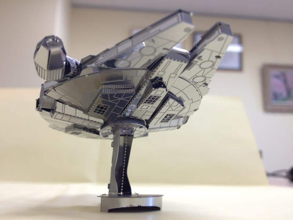 Laser-Cut Sheet Metal Star Wars Millennium Falcon Model Kit