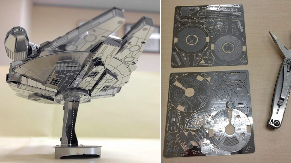 Laser Cut Sheet Metal Star Wars Millennium Falcon Model