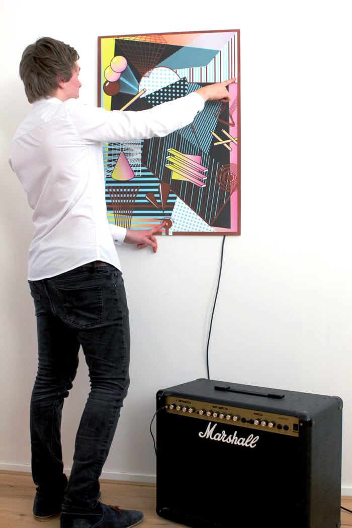 Touch Sensitive Poster With Conductive Paint Is A Musical Instrument
