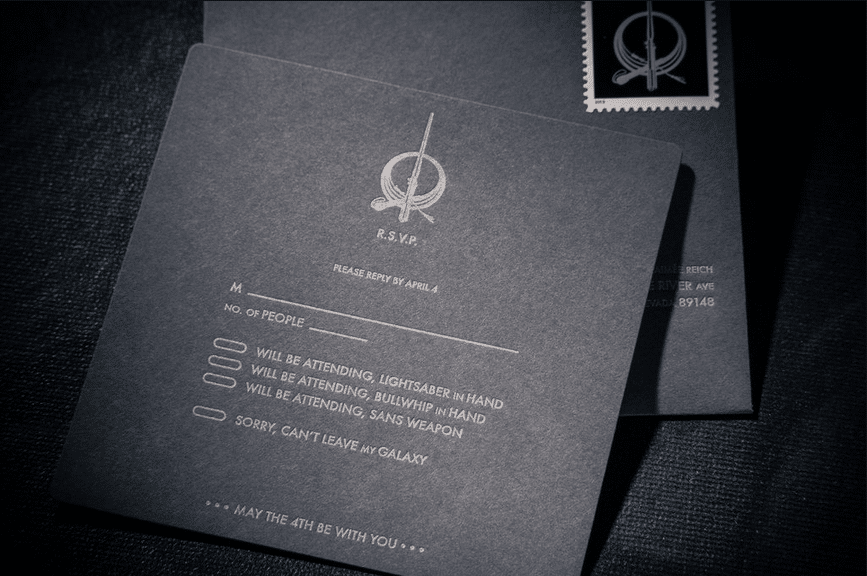Star Wars Wedding Invitation Trumps All Other Invitations Bit Rebels