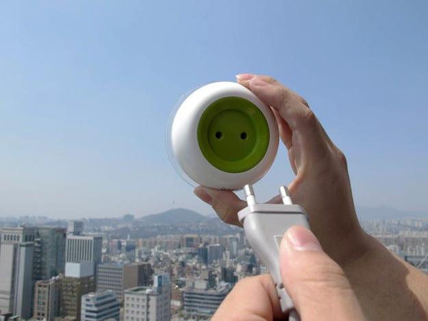 window-socket-plug-solar-powered