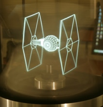 New 3D Holographic Technology Brings Tie Fighters To Life