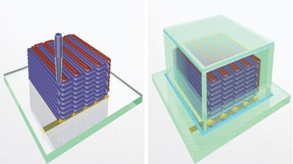 3D Printed Battery Shrinks Battery Size Down To A Grain Of Sand