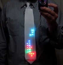 LED Tie Automatically Plays Tetris For Everyone To See