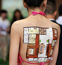 Body Painted Apartment Floor Plans: Most Creative Marketing Idea Today