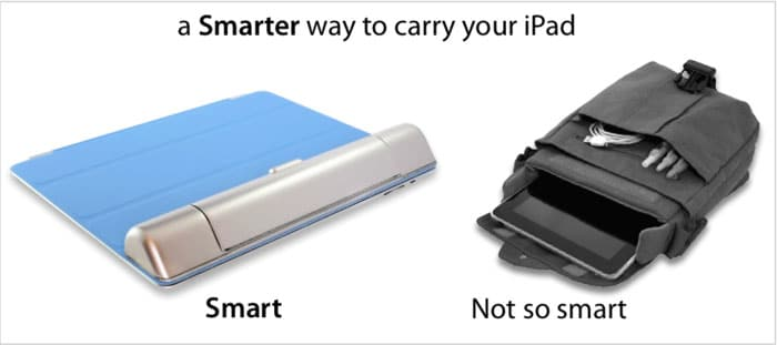 Secret Storage Compartment For iPad Doubles As Wrist Support
