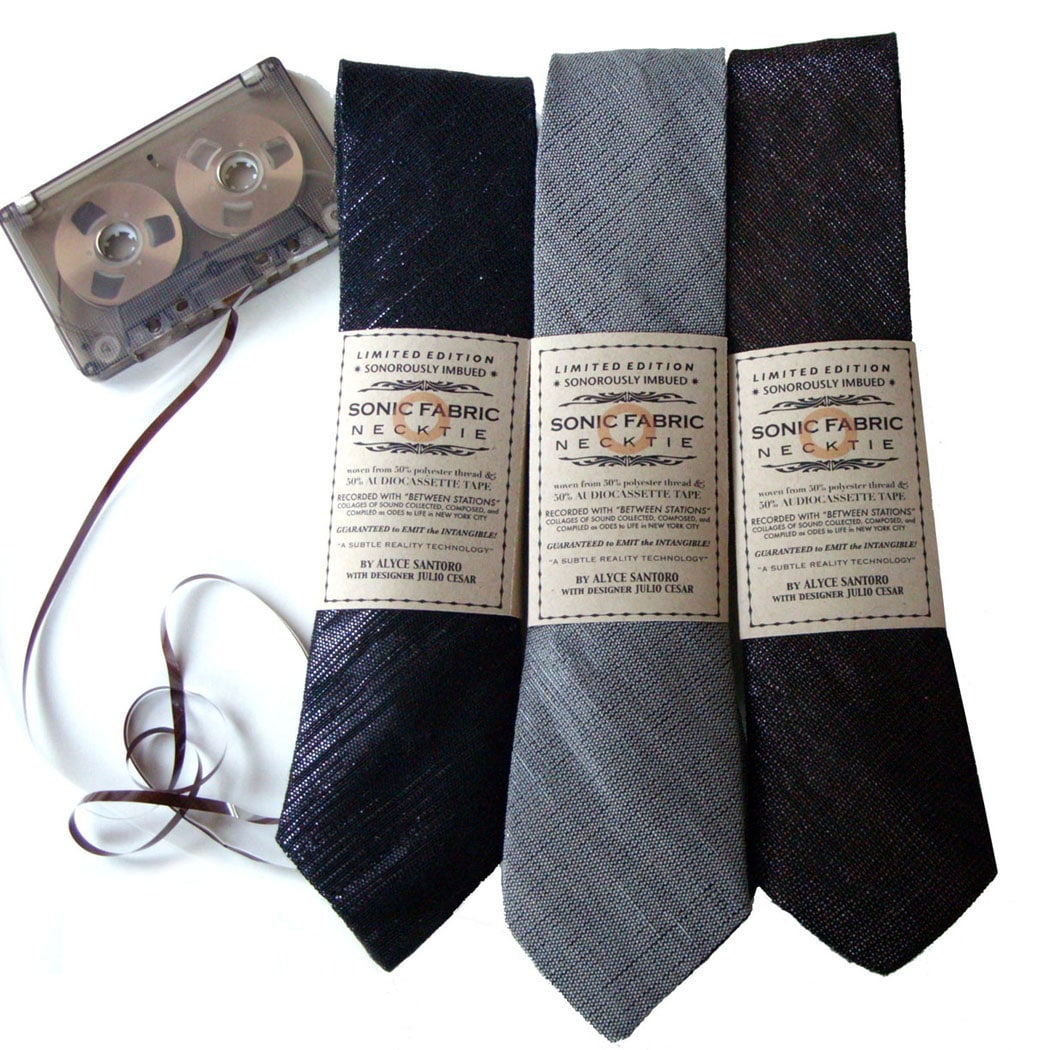 Retro Necktie Made With Real Cassette Tape Fabric That Can Play Music