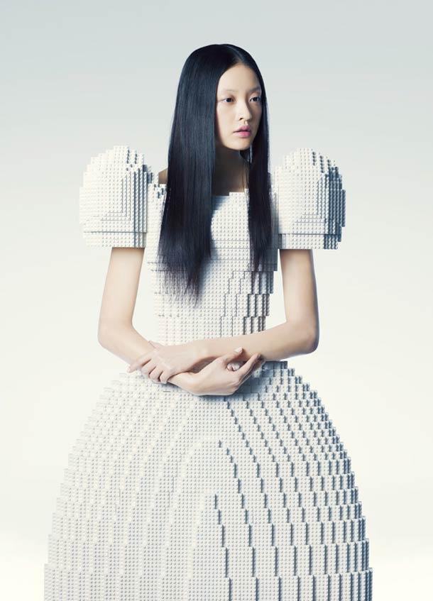 Creative LEGO Wedding Dress Is The Ultimate Geek Wedding Wear
