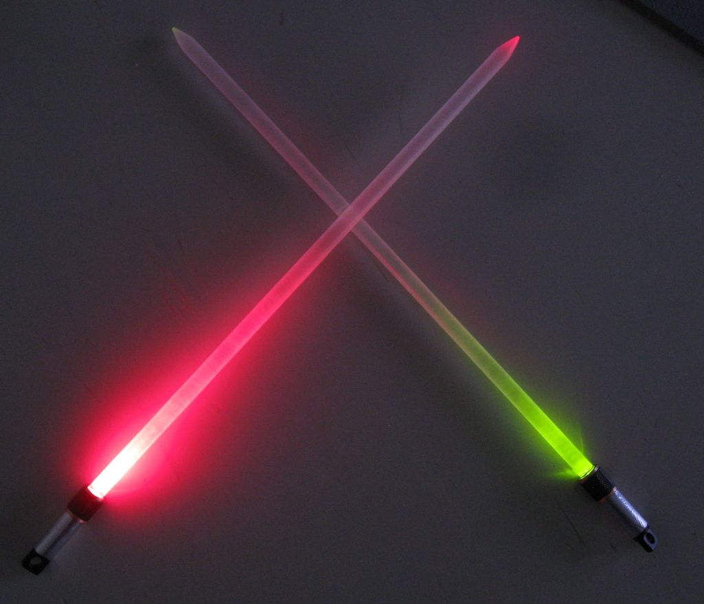 Fight The Dark Side With The Lightsaber Knitting Needles