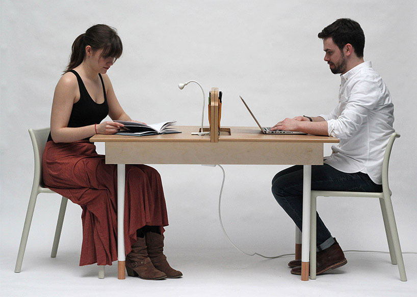 Space Saving Work Desk For Two That Transforms Into Large Dining Table