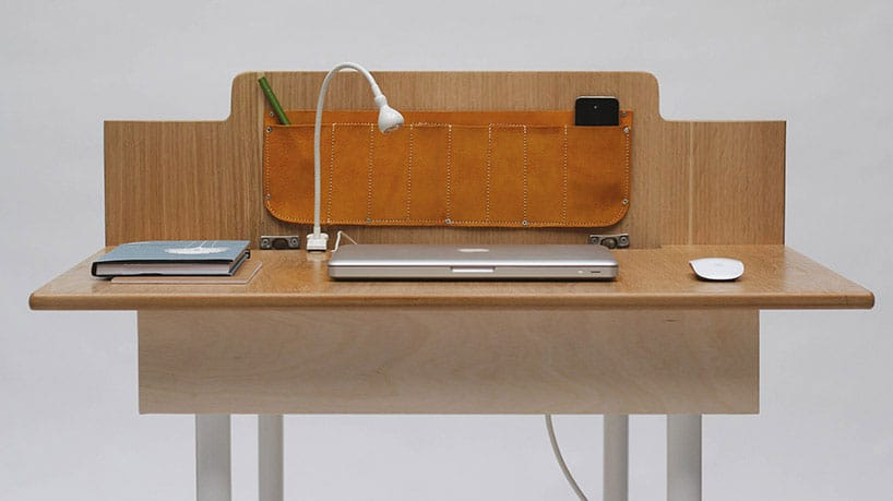 Space Saving Work Desk For Two That Transforms Into Large