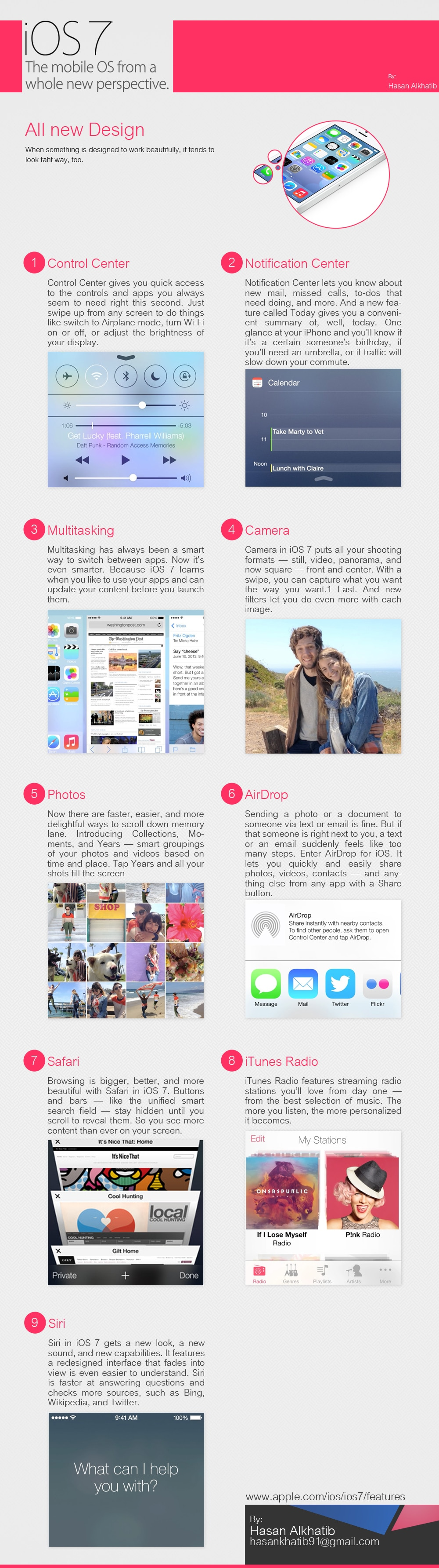 Complete iOS 7 Feature Overview [Infographic]