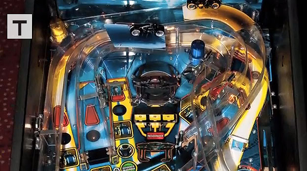 Miniature TRON Arcade Cabinet Inspired By A Pinball Machine