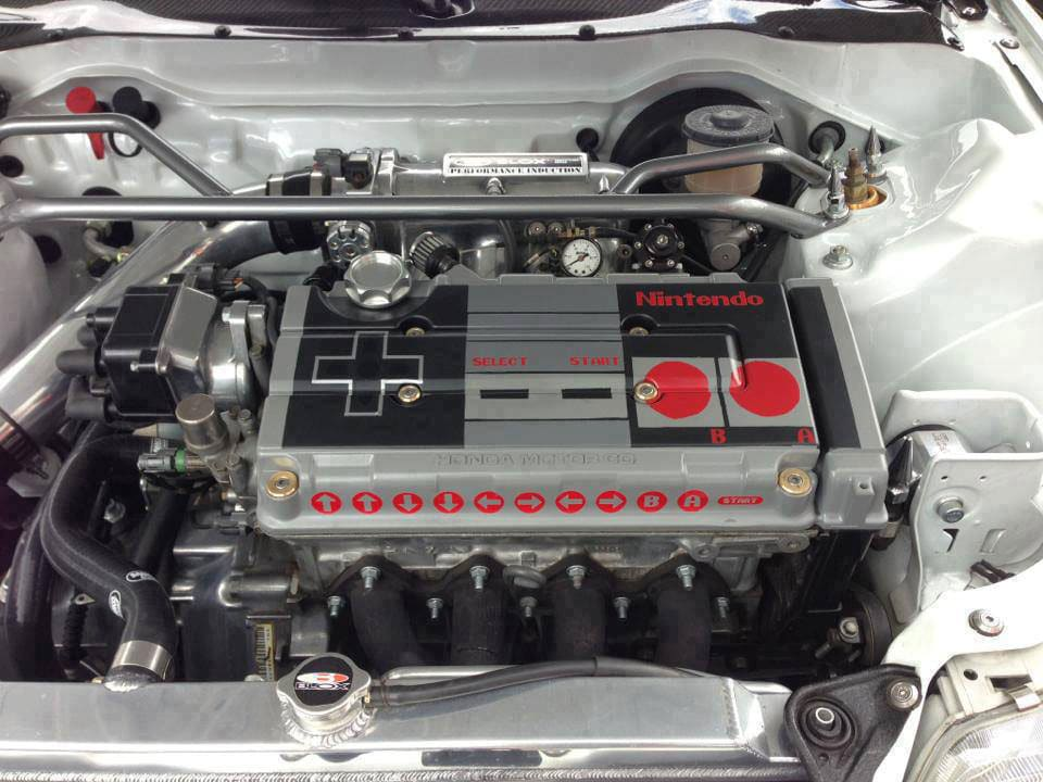 I Want This: NES Controller Car Engine Inside A 1989 Honda Civic